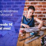 Oferta Hosting WordPress profesional ¡Por 1€ al mes!