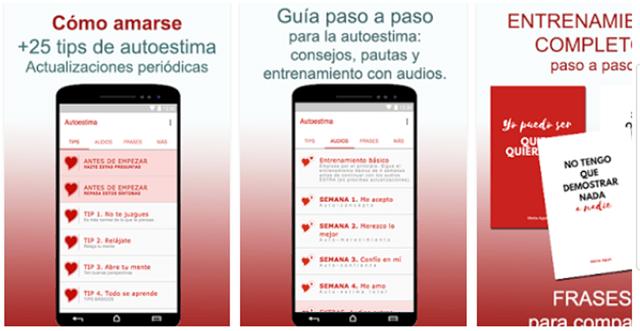 Autoestima, el verdadero amor app móvil