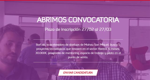 aceleradora de startups de Mahou San Miguel, Barlab: La nueva aceleradora de startups de Mahou San Miguel