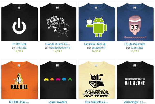 Camisetas la tostadora Fuente: http://www.latostadora.com/