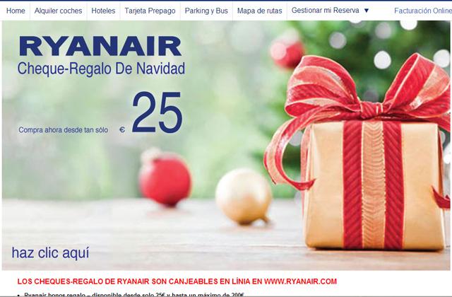 Cheques regalo ryanair
