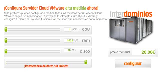 Configura Servidor Cloud VMware a tu medida