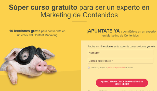 Curso gratuito de Marketing de Contenidos