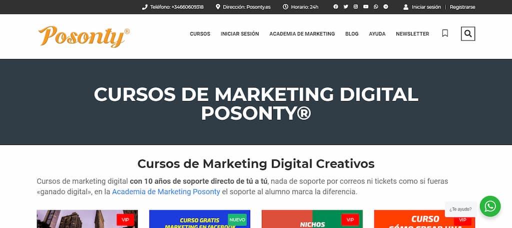 Cursos de Marketing Digital Posonty®
