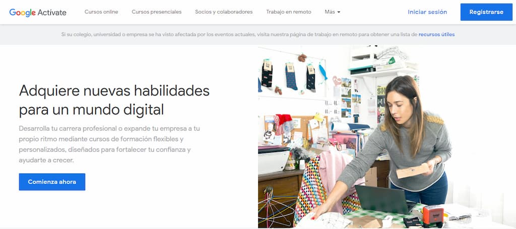 Cursos de marketing online gratuitos - Google Actívate