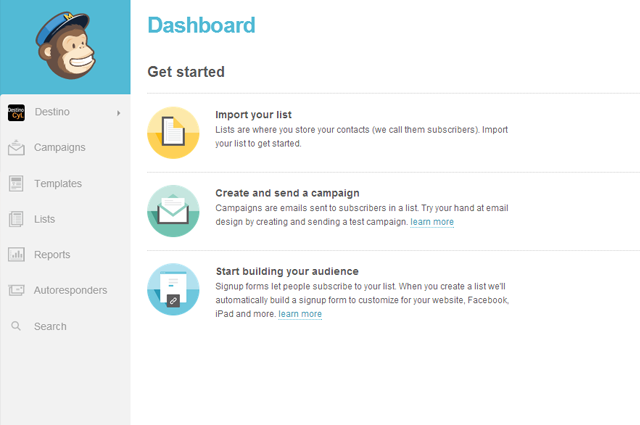 Dashboard mailchimp