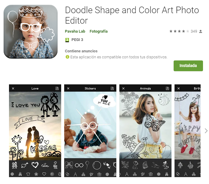 Doodle Shape and Color Art Photo