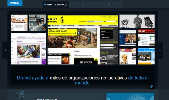 web oficial de Drupal