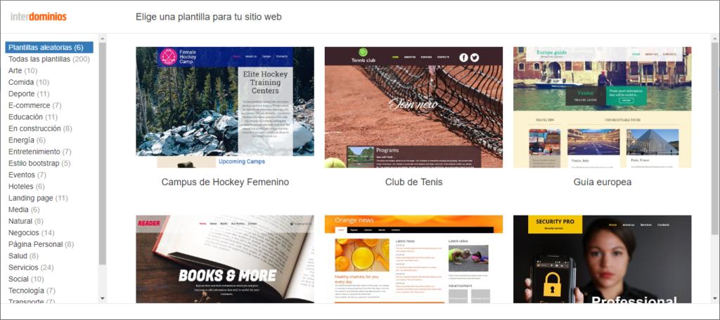 Editor Tu Web de Interdominios