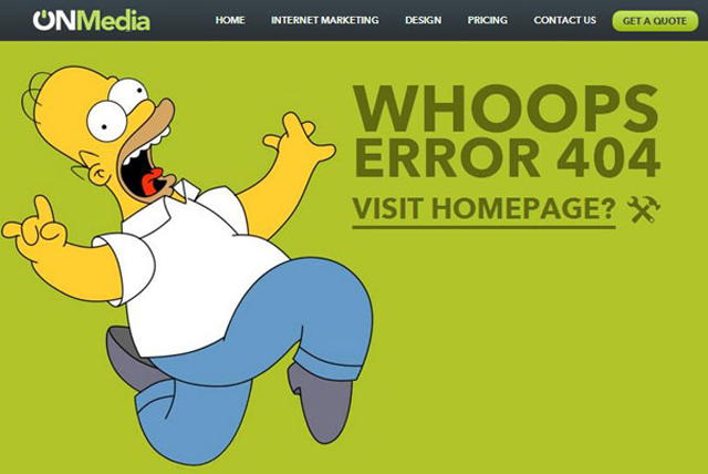 Error 404 divertido Fuente: www.instantshift.com