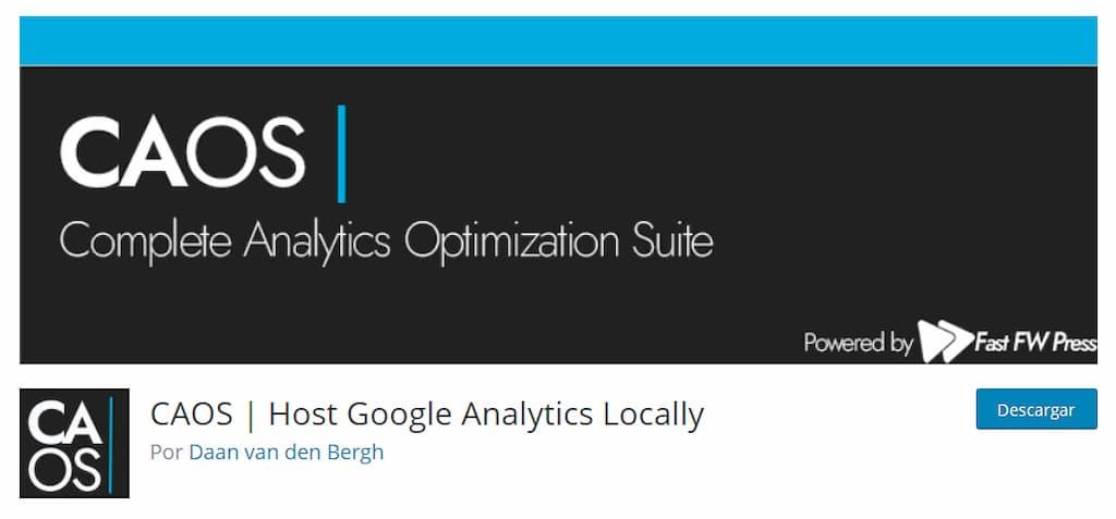 CAOS Analytics - plugin de analítica web para WP