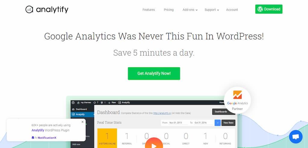 Analytify - Plugin de analítica para WordPress