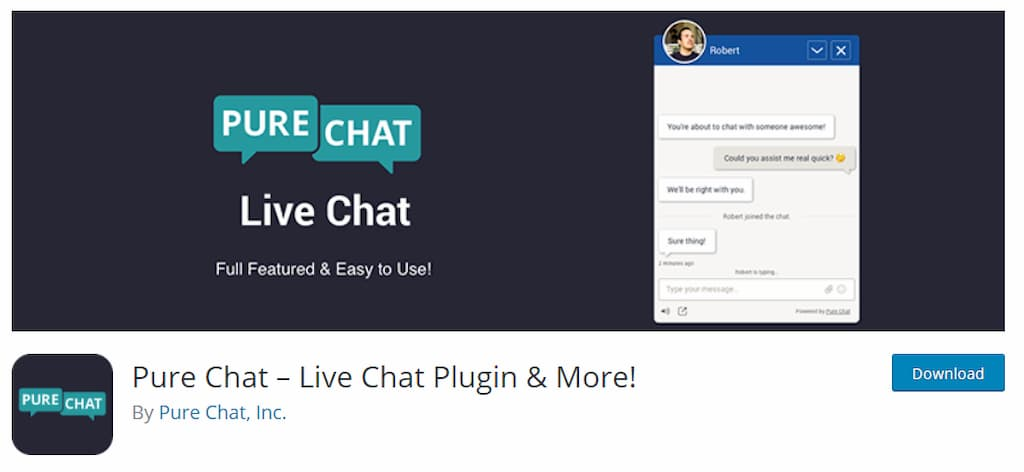 Pure Chat – Live Chat Plugin