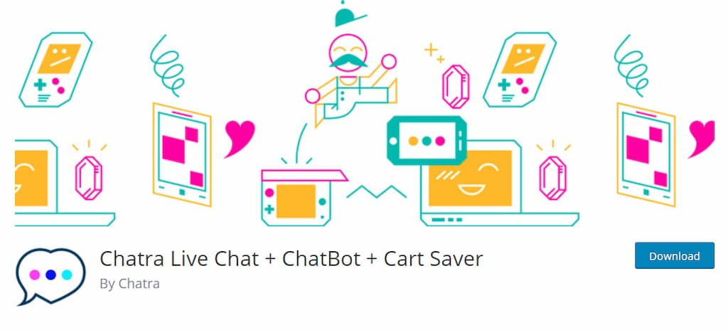 Chatra Live Chat + ChatBot + Cart Saver