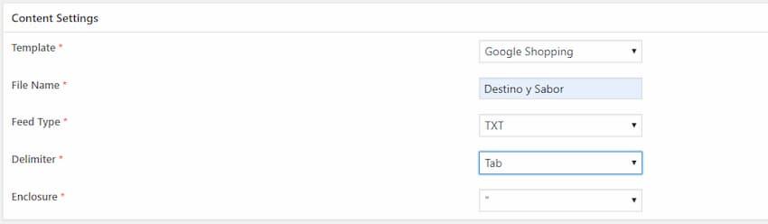 configuración de integración WooCommerce con Google Shopping