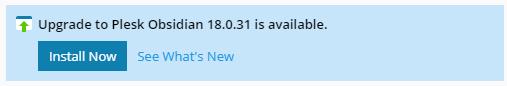 actualización de plesk