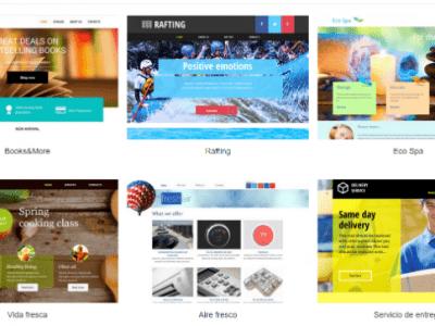 190 plantillas gratuitas para crear tu web profesional