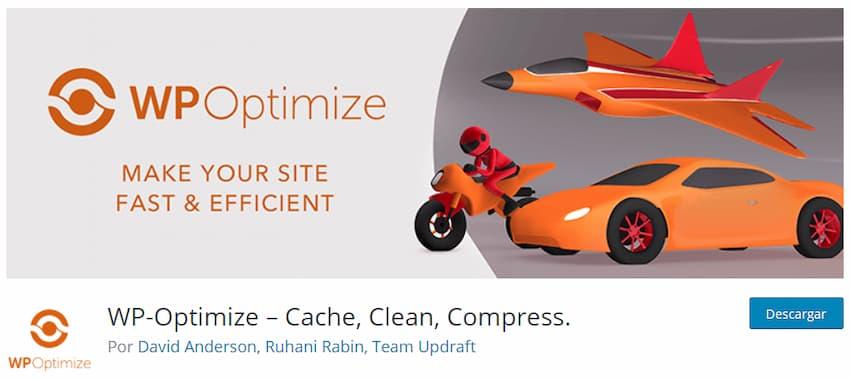 WP-Optimize – Cache, Clean, Compress.