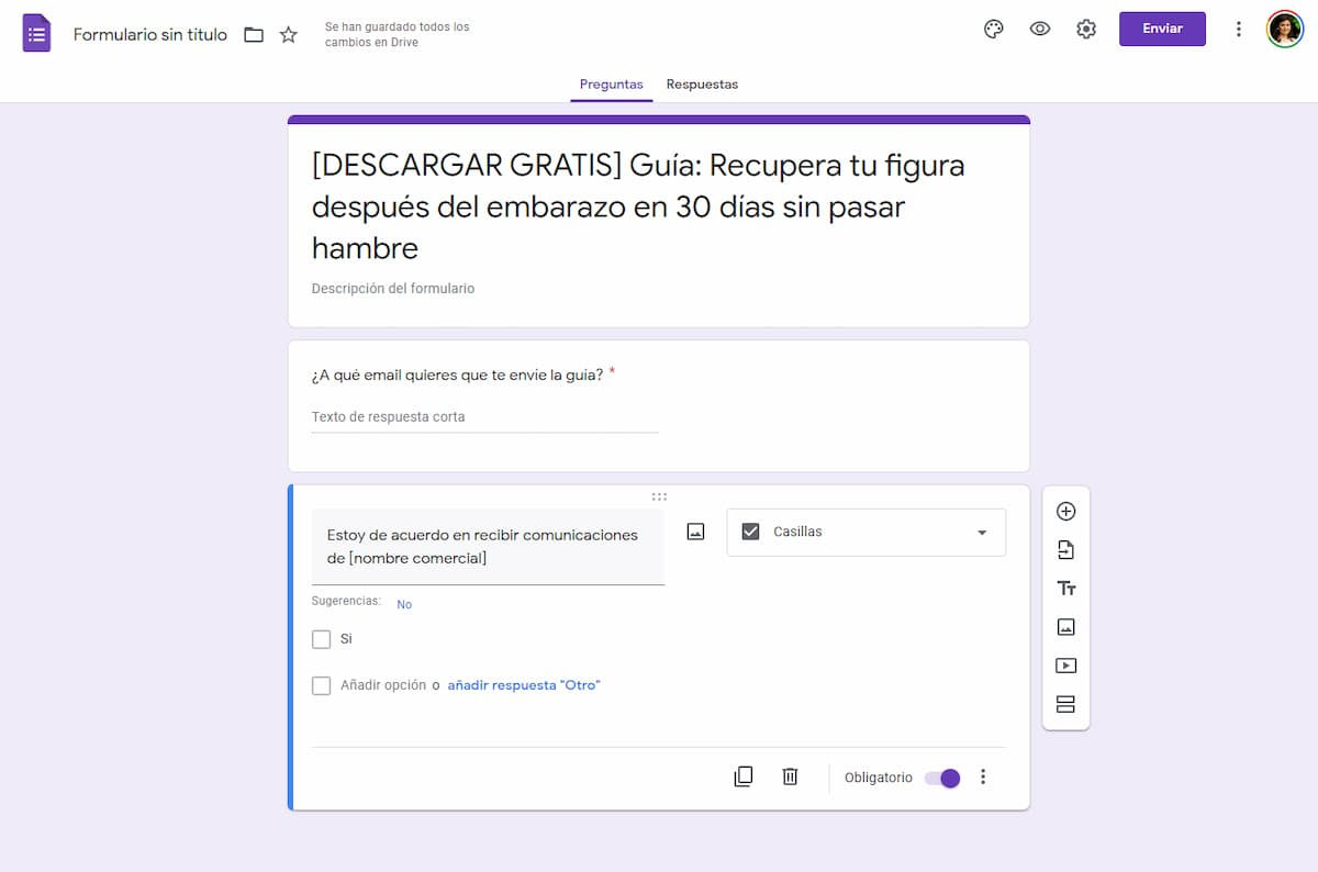 formulario en google drive
