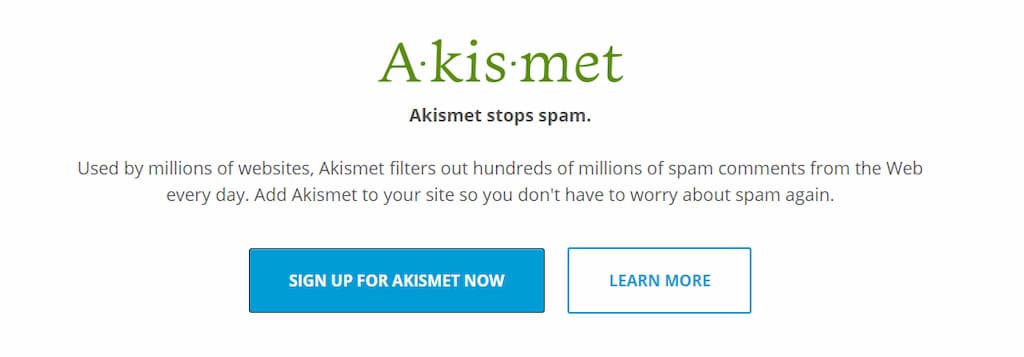 akismet plugin - guia mantenimiento wordpress