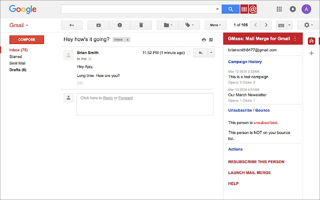 GMass: Mail merge for Gmail