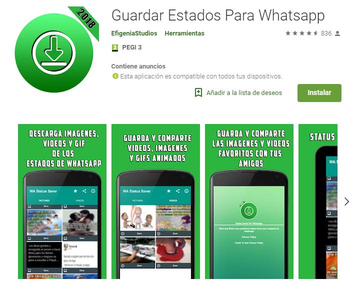 Guardar Estados Para Whatsapp