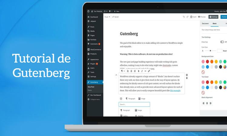 Gutenberg nuevo editor de WordPress 5.0