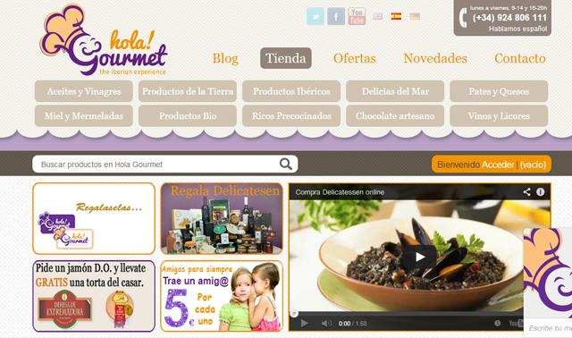 Ecommerce holagourmet productos delicatessen