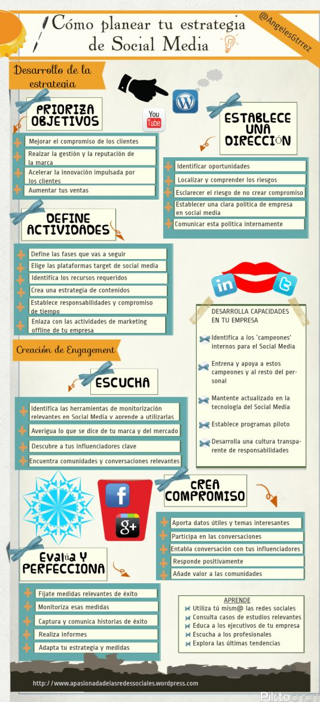 Infografía Social Media Plan