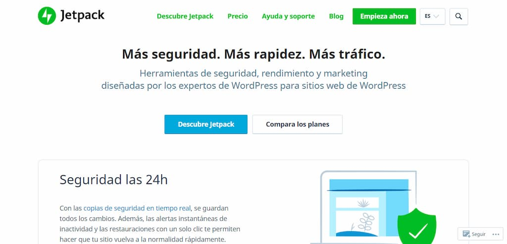 Jetpack plugin de analitica web para WordPress