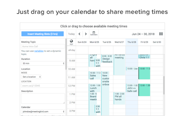 Meetingbird Add On para Gmail
