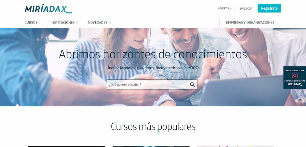 Miríadax - Cursos online en español y portugués