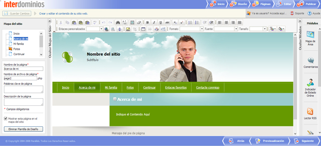 PASO 4_Edición de la web con Sitebuilder