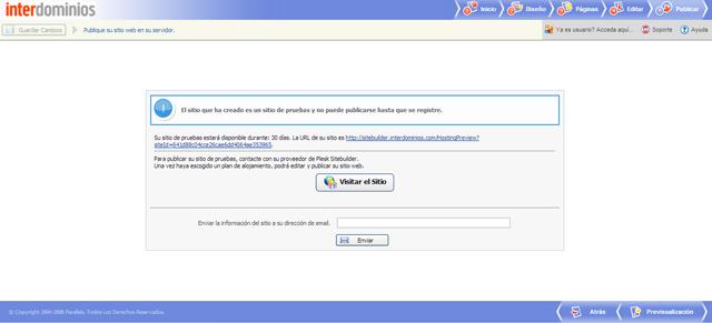 PASO 5_Publicar tu web con Sitebuilder
