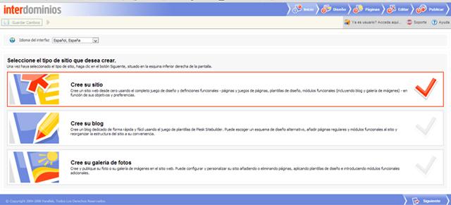 PASO1_Inicio en Sitebuilder