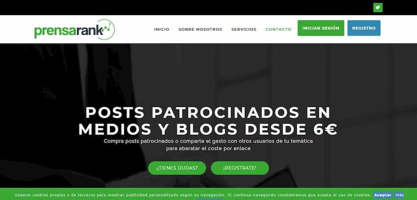 Prensarank - Posts y notas de prensa en medios y blogs desde 10€
