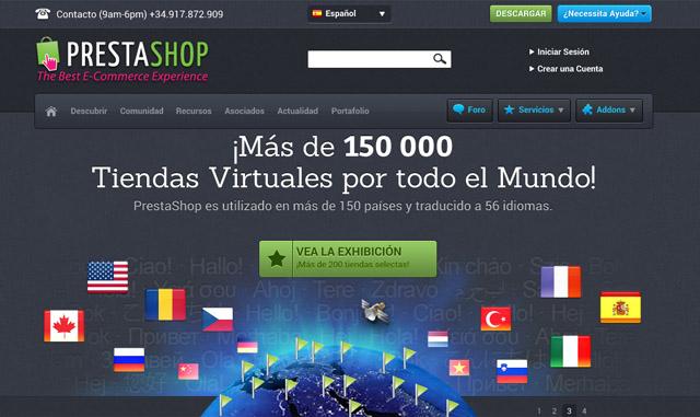 web oficial de Prestashop