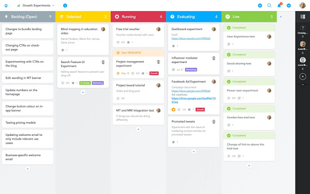 Project Board de MeisterTask for Gmail