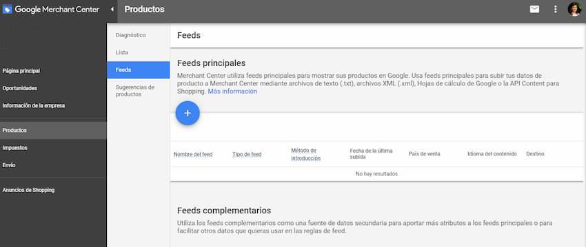 Publicar feed en Google Merchant