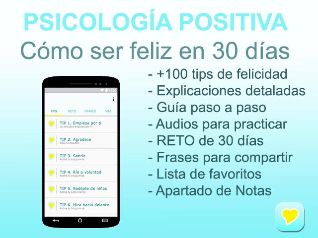 Ser feliz Reto 30 días app movil