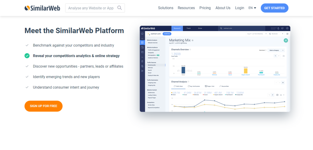 SimilarWeb I Website Traffic Statistics