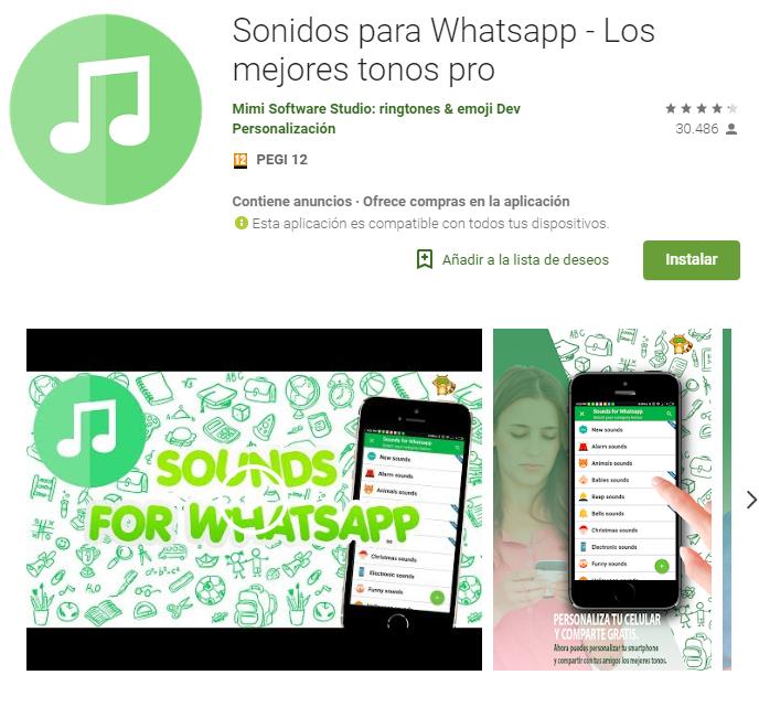Sonidos para Whatsapp