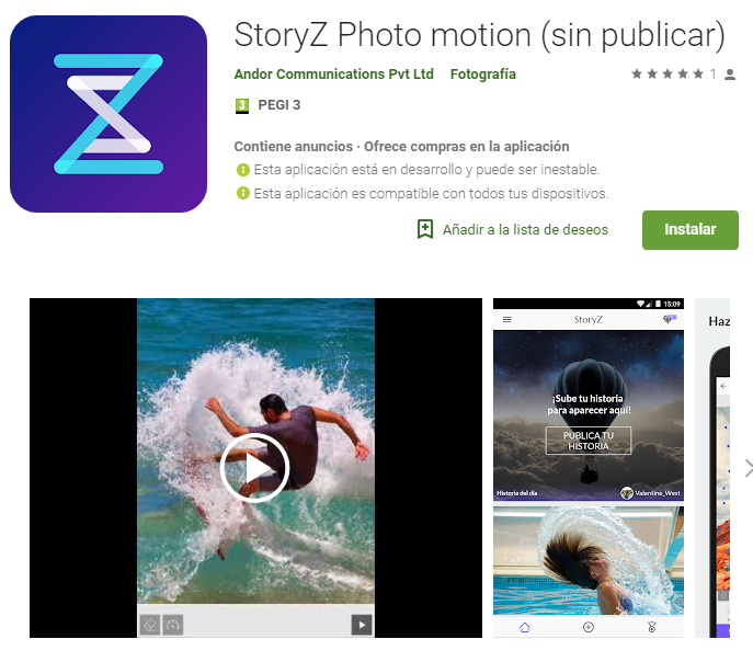 StoryZ Photo motion