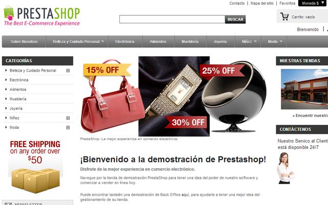 Tienda Online prestashop en Interdominios