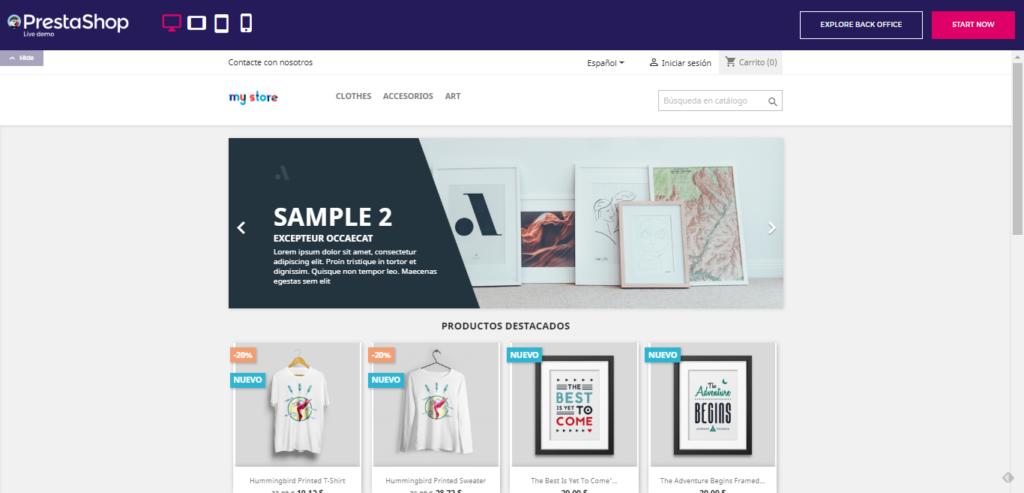Tienda online en PrestaShop Demo