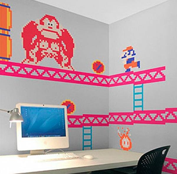 Vinilos decorativos de pared Donkey Kong Fuente: http://quelovendan.com/