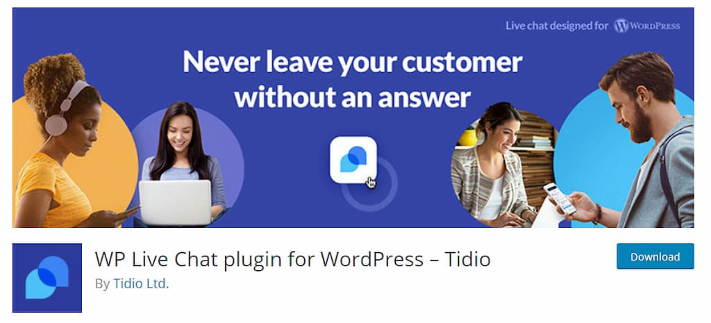 Tidio WP Live Chat plugin for WordPress