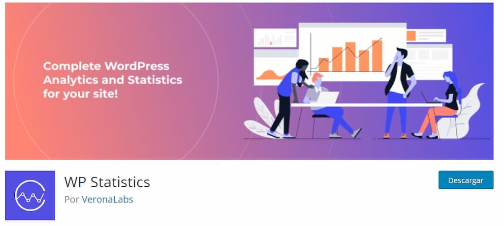 WP Statistics - plugin de analítica web para WP