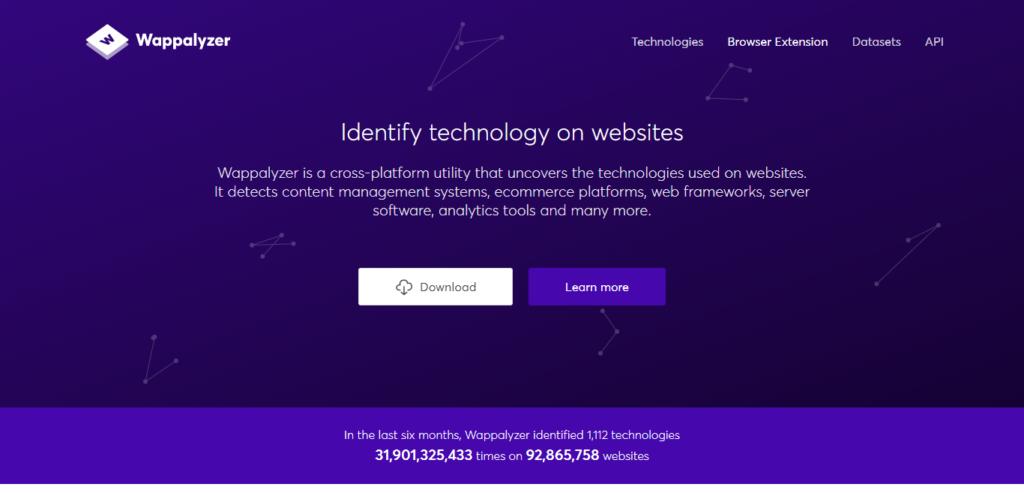 Wappalyzer - Identifica la tecnología que hay detrás de los sitios web