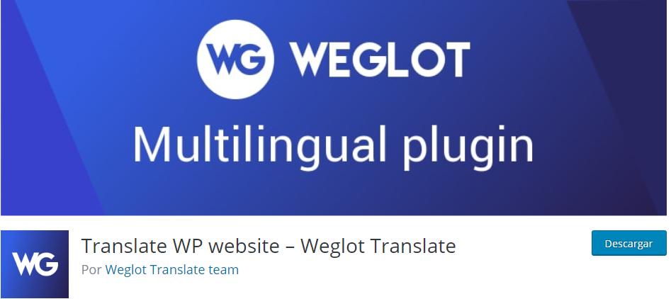 Weglot Plugin de traducción web